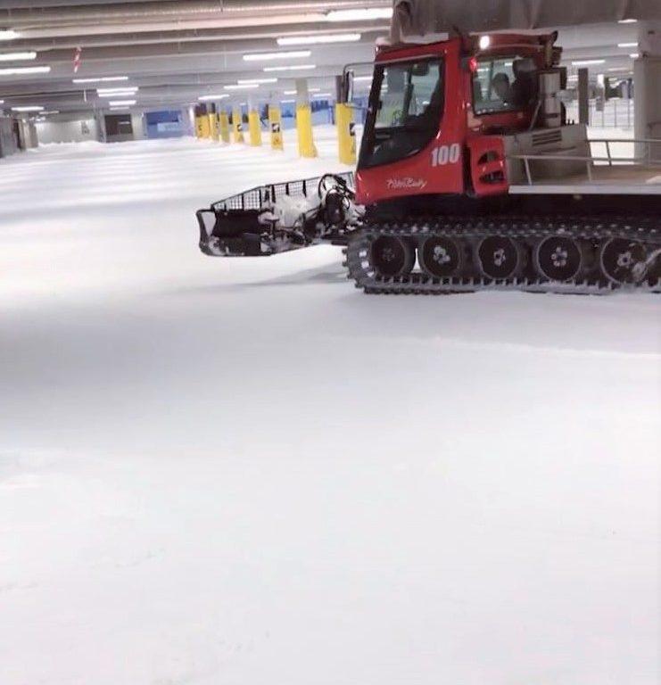 Snövård 2 november - Skidhall för längdskidåkning i Göteborg.